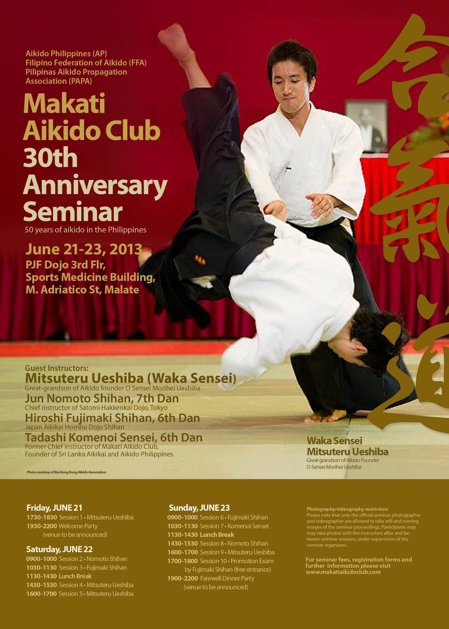 Makati Aikido Club 30th Anniversary Seminar